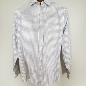 Brooks Brothers // pin stripe blue white button